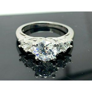 Engagement Ring Brilliance Sterling Silver Size 7